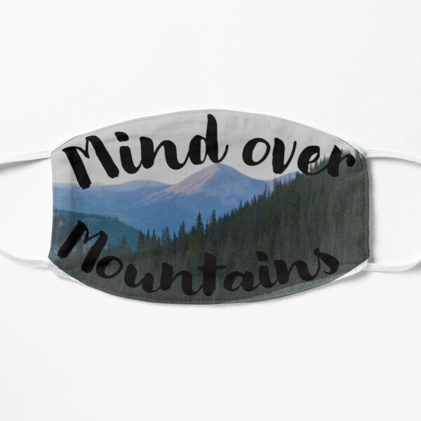 Mind over Mountains Flat Mask