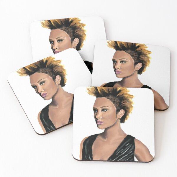 Mohawk woman no background Coasters (Set of 4)