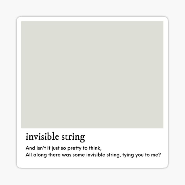 Invisible String - Taylor Swift Folklore Sticker