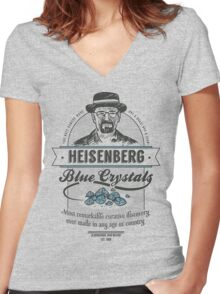 Blue Crystals Remedy Women's Fitted V-Neck T-Shirt