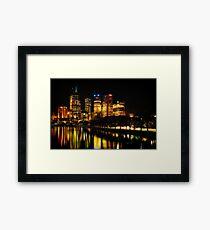 Reflections on Melbourne - Australia Framed Print