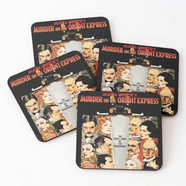 Murder on the Orient Express Coasters (Set of 4)