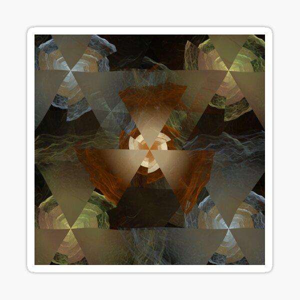 Triangle Fire/Water Elemental Fractal Artwork Sticker