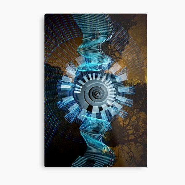 Glyncoed Light Painting Metal Print