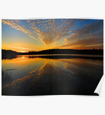 Rise and Rays at Round Lake Poster