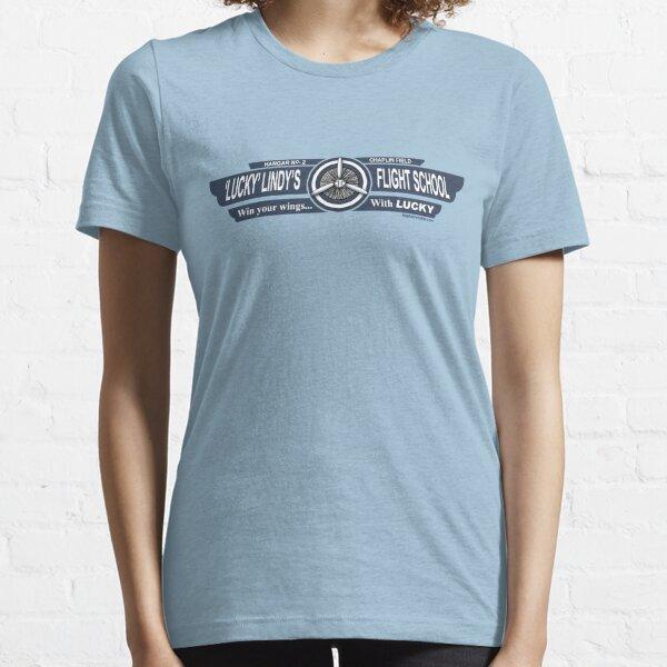 Lucky Lindy's Flight School Essential T-Shirt