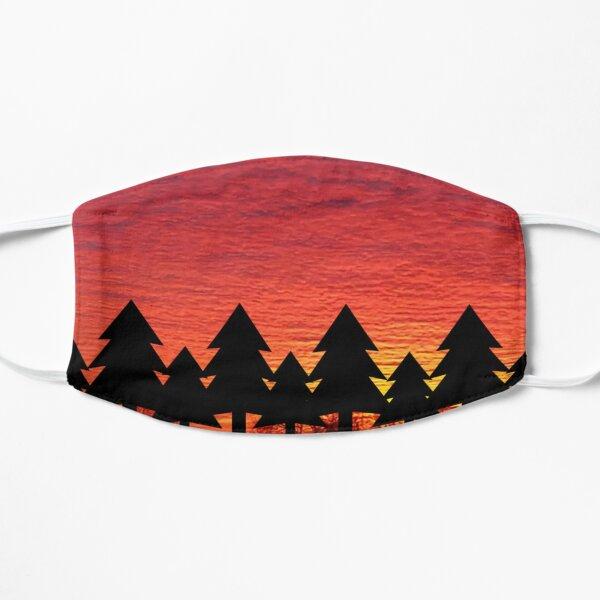 Sunset Trees Flat Mask