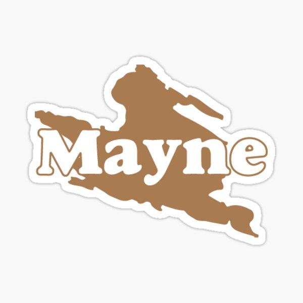 Mayne Island Logo Sticker