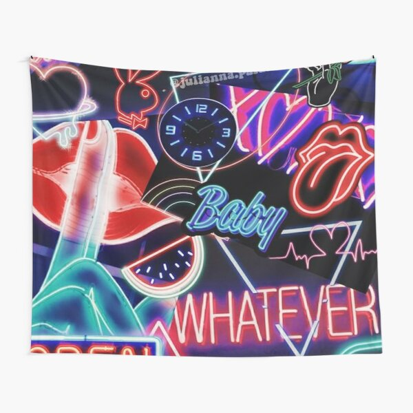 Aesthetic Neon Collage #3 Tapestry