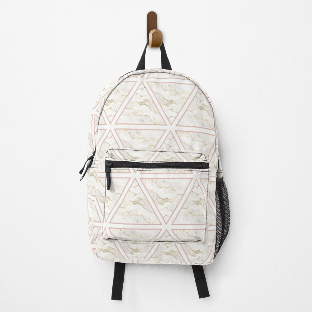 Marble Triangle Pattern Backpack