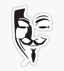 V For Vendetta Silhouette Sticker
