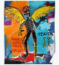 BASQUIAT ANGEL BY AUGUSTO SANCHEZ Poster