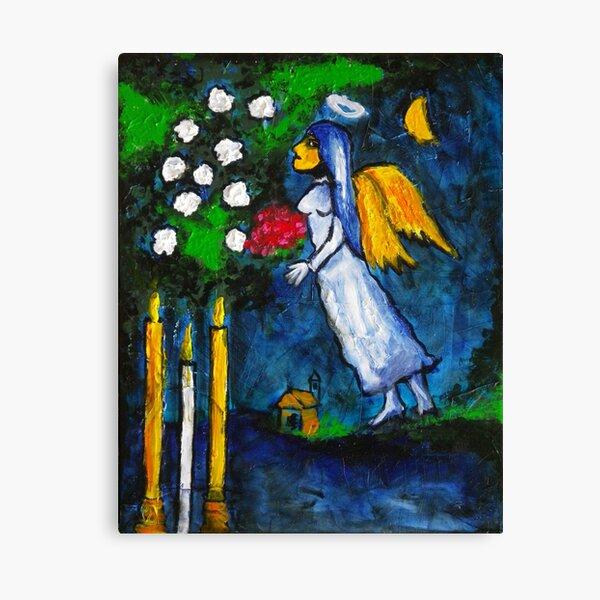 Marc Chagall Angel par Augusto Sanchez Impression sur toile