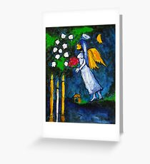 Marc Chagall Angel by Augusto Sanchez Greeting Card