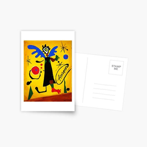 Joan Miro Angel par Augusto Sanchez Carte postale