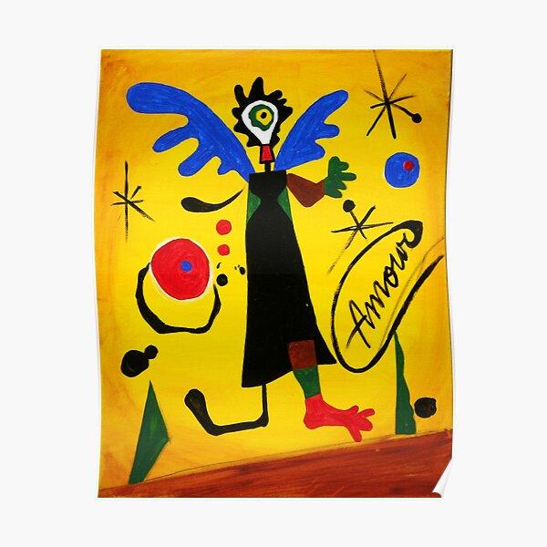 Joan Miro Angel by Augusto Sanchez Poster