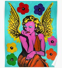 Andy Warhol Angel by Augusto Sanchez Poster