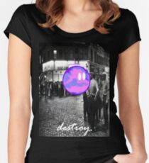 destroy.#6 Women's Fitted Scoop T-Shirt