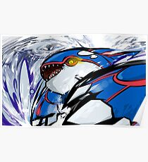 Kyogre | Water Spout Poster