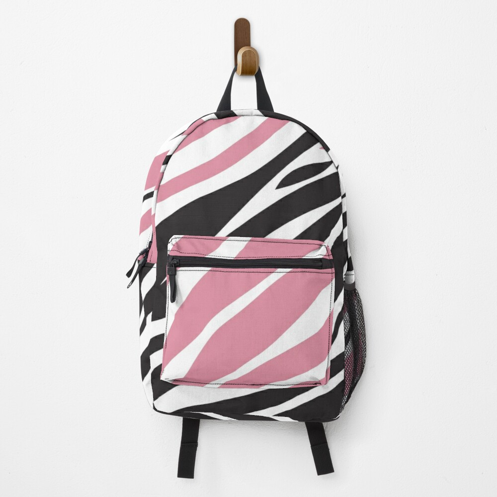 Pink Zebra Print Backpack