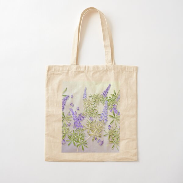 Blue Lupines Cotton Tote Bag