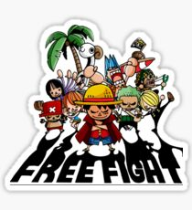 one piece free fight  Sticker