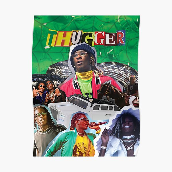 Young Thug Collage Poster Poster