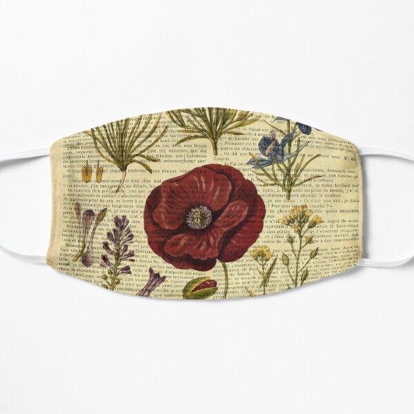 auf alter Buchseite - Blumen Maske