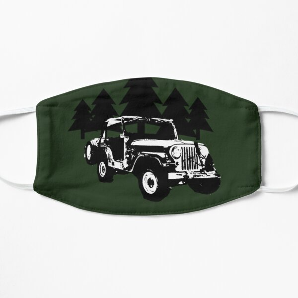 Jeep and Trees Flat Mask