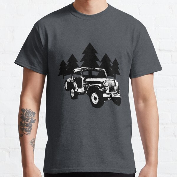 Jeep and Trees Classic T-Shirt