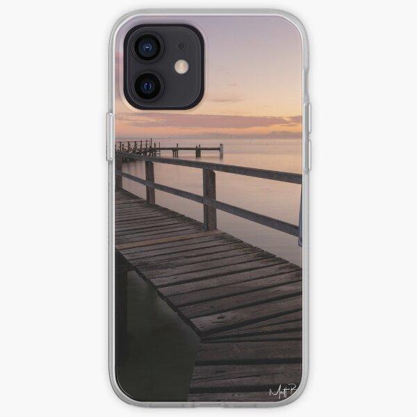 Zigzag Pier Sunrise Portsea 1 iPhone Soft Case
