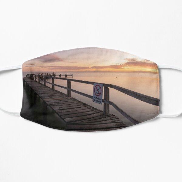Zigzag Pier Sunrise Portsea 1 Flat Mask