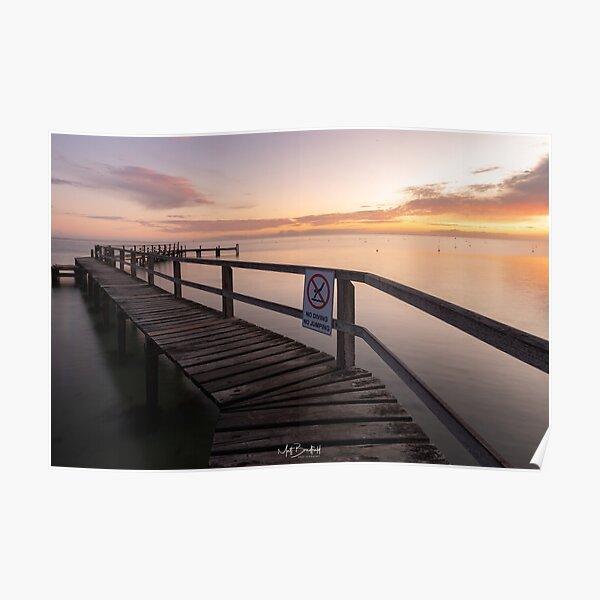 Zigzag Pier Sunrise Portsea 1 Poster