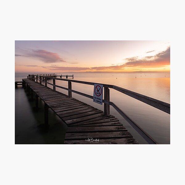 Zigzag Pier Sunrise Portsea 1 Photographic Print