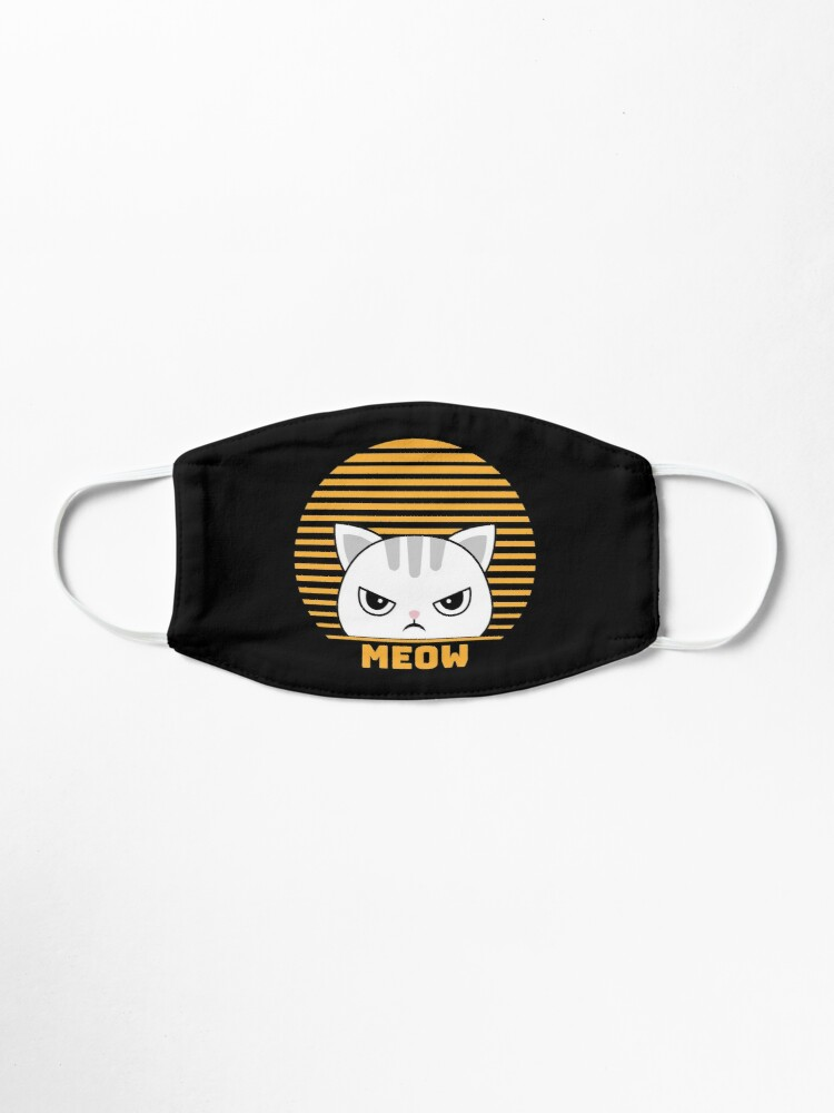 Alternate view of Cute Funny Vintage Retro Style Kawaii Cat Lover  Mask