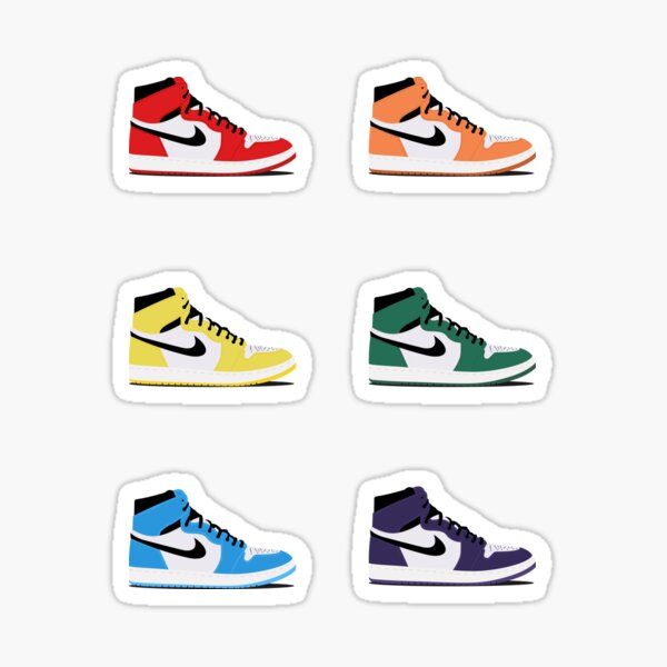 Ensemble d'autocollants Air Jordans Sticker