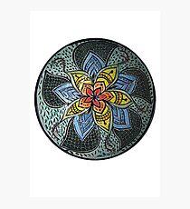 Zen Doodle #3 floral design Photographic Print
