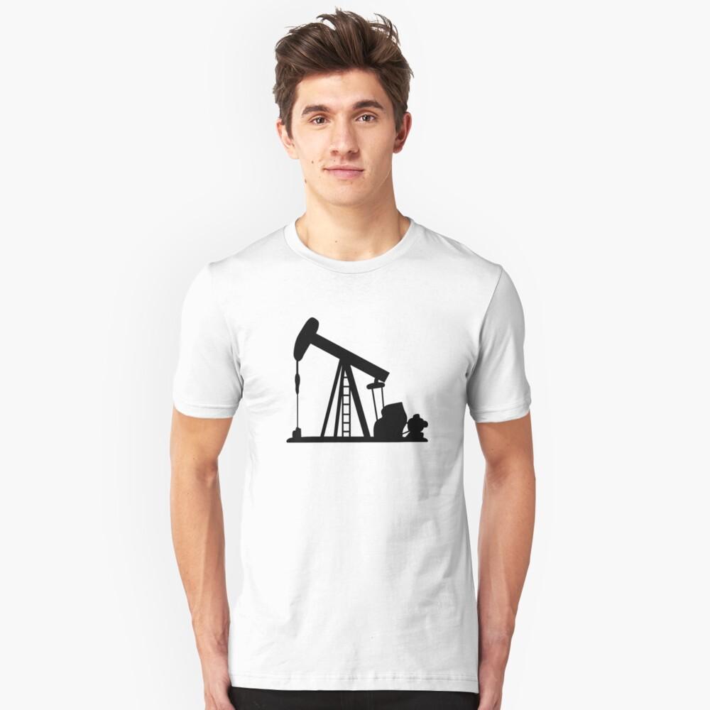 Oil Crane Pump Jack Unisex T-Shirt Front