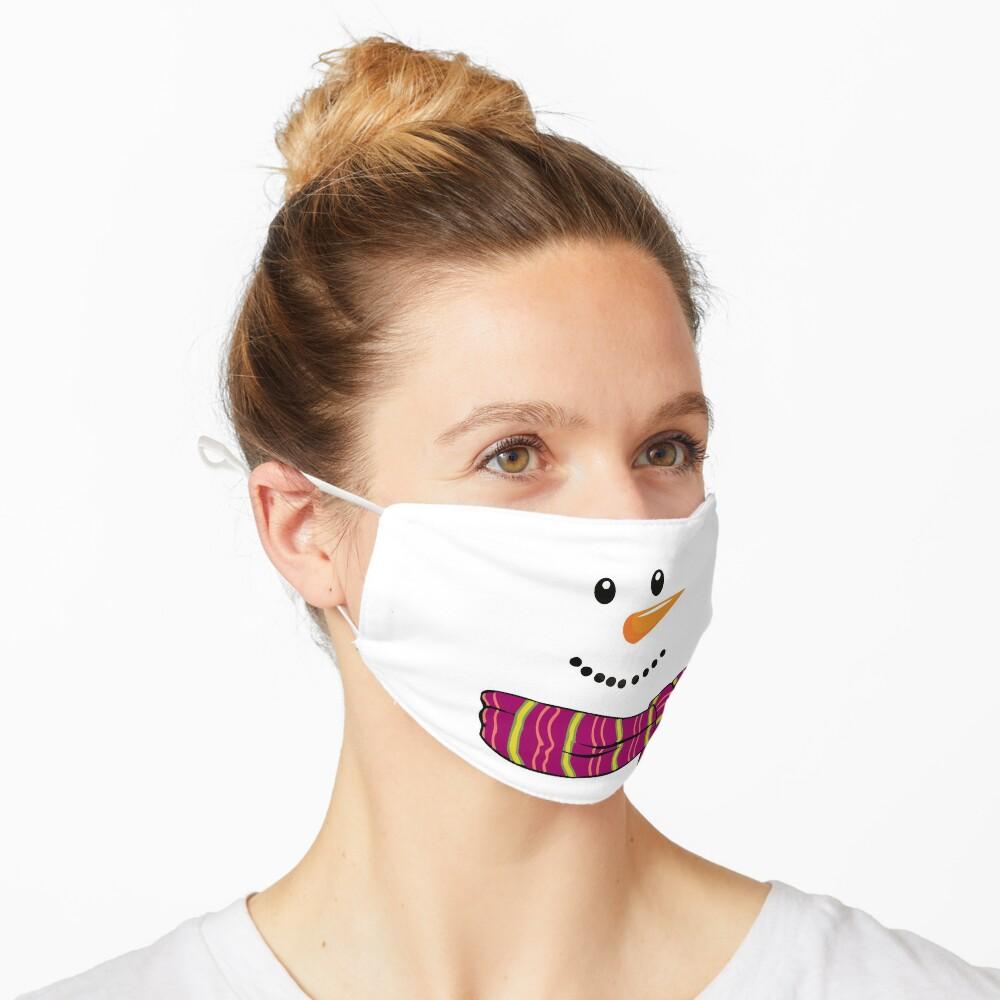 Masque «Bonhomme de neige à Noël»