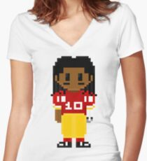 Robert Griffin III Full Body 8-Bit 3nigma Women's Fitted V-Neck T-Shirt
