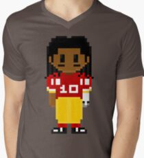 Robert Griffin III Full Body 8-Bit 3nigma Mens V-Neck T-Shirt