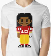 Robert Griffin III Full Body 8-Bit 3nigma Mens V-Neck T-Shirt
