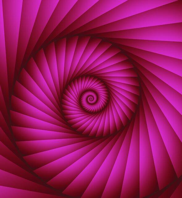 Hot Pink Spiral, Fractal artwork by walstraasart