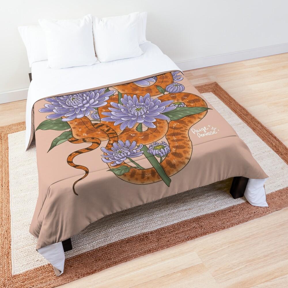 Bull Snake with Chrysanthemum Comforter