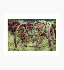 Rusty Farm Equipment  Art Print
