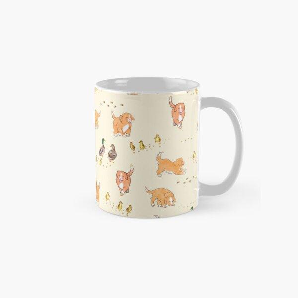 Toller Puppies and Ducklings - Cream Classic Mug