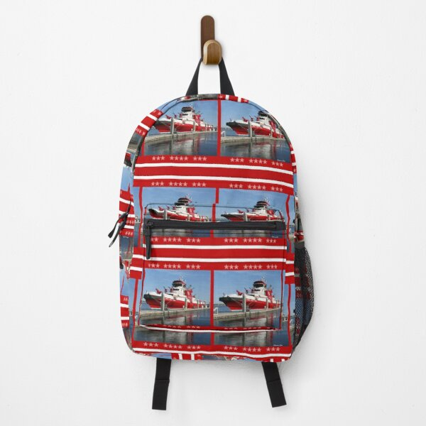 343 ~ FDNY's New Fireboat on Route to New York  Backpack