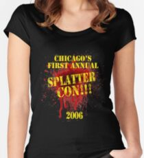 Splatter Con!!! Women's Fitted Scoop T-Shirt