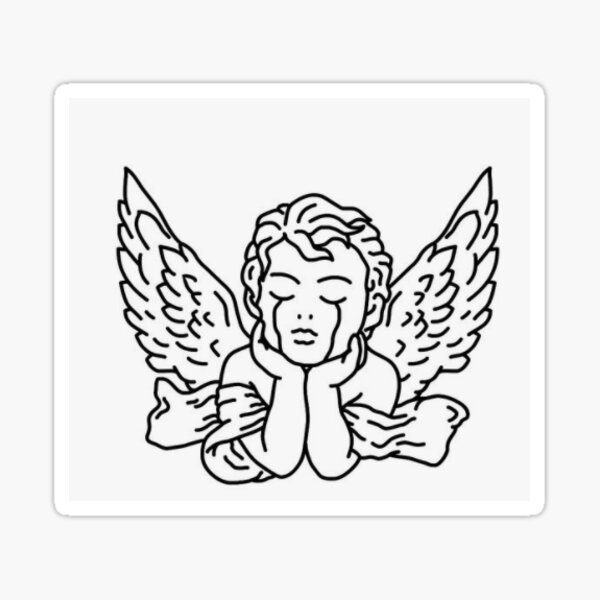 Angel Crying Stickers Redbubble