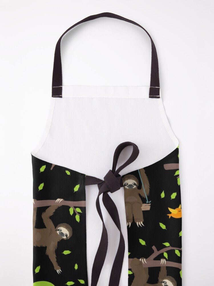 Alternate view of Sloth Do It Later Apron
